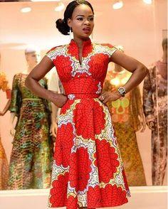 Olajumoke Orisaguna Graciously Rock Short Gown Ankara Style   Maboplus