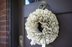 Gift Idea: Make a wreath from the pages of an old book (consider old phone books, too).