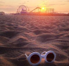 Beach day sunset