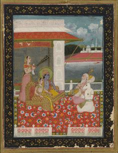 Sri Raga recital to Krishna-Radha, 19th century.jpg