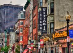 Boston Photography North End Art Boston by CobblestoneAndBirch #HanoverStreet #NorthEnd #Boston
