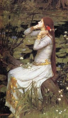 Gertrude is asked to talk to Ophelia because she is so disturbed of her father's murder. Gertrude first refuses to see her. but when she comes in she is singing and not really aware of who she is.