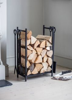 A handy log holder not just for storing logs, but holding your tools as well