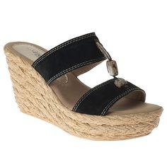277786 Azura Harvard Slide Wedge Sandals - Black