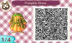 Pumpkin Dress - Animal Crossing New Leaf QR Codes