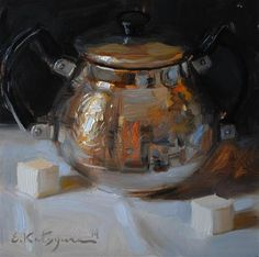 "Daily Paintworks - ""Regal Bowl"" by Elena Katsyura"