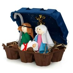 egg crate nativity - looks cute and simple