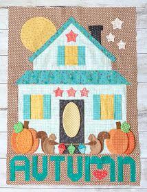 Autumn Love Sew Along Week 9 – Riley Blake Designs Quilt Block Patterns, Applique Patterns, Quilt Blocks, Sewing Patterns, Machine Embroidery Applique, Machine Quilting, Quilting Projects, Sewing Projects, Farm Quilt