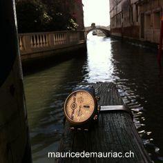 Venice, with my #mauricedemauriac Swiss made watch.