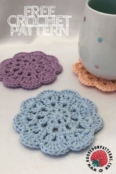 Free Mandala Coasters Crochet Pattern Learn the rudiments of how to crochet, at the very first. Crochet Gifts, Diy Crochet, Crochet Home, Crochet Doilies, Crochet Kitchen, Crochet Pattern Free, Free Mandala Crochet Patterns, Crochet Accessories Free Pattern, Knitting Projects