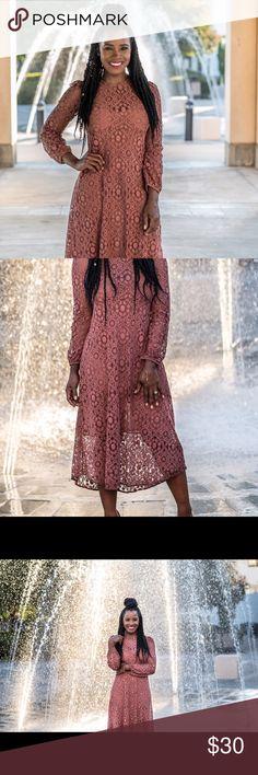 Zara Dress Moose chocolate colored lace detail dress Zara Dresses