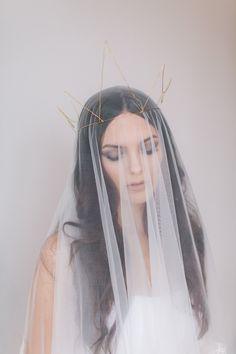 Pales Crown.  Wedding Headband, Bridal Headband, Wedding Accessories, Bridal Headpiece by OffwhiteStudio on Etsy