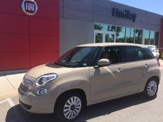 Manfred is hitting the road with his #FIAT500L! #newcarsmell Love the color!
