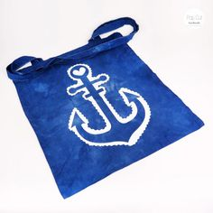 Batikbeutel Baumwolle, Farbe türkis, Plotterdruck Anker Abmessungen: ca. 33 x 37 cm Preis: € 10,- Jetzt bestellen: http://www.popcut.at/diy/webshop/