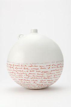 Louise Boscacci  Pilgrim 2 (below my flightless feet) 2010   Porcelain, vitreous inlay, glaze   H 20 W 19 D 13.5 cm   (20 x 19 x 13.5 cm)