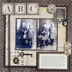 Display idea for family heirlooms, genealogy research and historical photos.