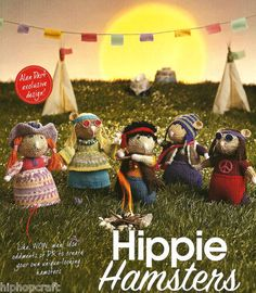 ALAN DART Toy Knitting Pattern - Hippy Hamsters