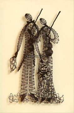 "The ViolinistsFrom series ""Music In lace"". Hand-made bobbin lace picture.Old Russian bobbin lace technique. Technique: bobbin laceMa..."