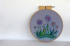 Colorful Flower Garden with Swirls2 by sarah_hennessey, via Flickr