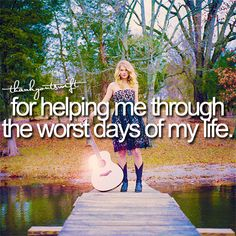 So true she helps us out by listen to her songs