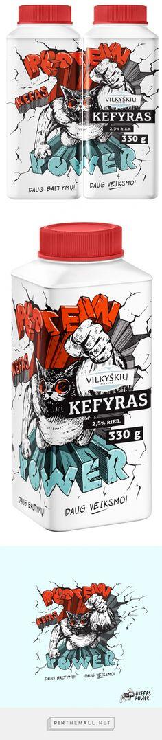 Vilkyškių Super Kefir - Packaging of the World - Creative Package Design Gallery - http://www.packagingoftheworld.com/2016/02/vilkyskiu-super-kefir.html