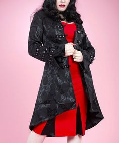 Look at this #zulilyfind! Black Brocade Corset Swing Coat - Women & Plus #zulilyfinds