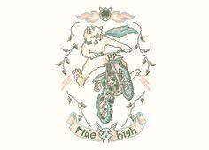 """Motocross-Stitch Kitteh"" - Threadless.com - Best t-shirts in the world"