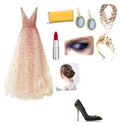 """Fancy"" by vivianmoriartye on Polyvore featuring Monique Lhuillier, Versace, PESAVENTO, Armenta, Valentino, Dolce&Gabbana and Givenchy"