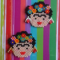 "45 Likes, 2 Comments - Pauline (@pauline_eline) on Instagram: ""2 petites broches d'une grande artiste.  J'adore Frida Kahlo! Merci @owl_things pour l'inspiration…"""