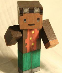 Wooden Minecraft Figure