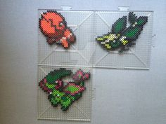 Perlers of Jigglypuff and it's evolutions (including pre-evolution) from gen 1 (and gen 2) Perlers made using menusprites from Gen 6 as a reference. Pokemon is owned by Nintendo
