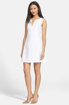 Free shipping and returns on Diane von Furstenberg 'Fleur' A-Line Dress at Nordstrom.com. Tonal banding highlights the elegant A-line silhouette of a sleeveless dress fashioned from midweight stretch fabric that keeps its form while flattering your figure.