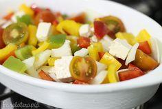PANELATERAPIA - Blog de Culinária, Gastronomia e Receitas: Salada de Tofu