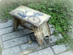 agir / Stolička Handmade, Vintage, Furniture, Home Decor, Upcycling, Hand Made, Room Decor, Craft, Vintage Comics