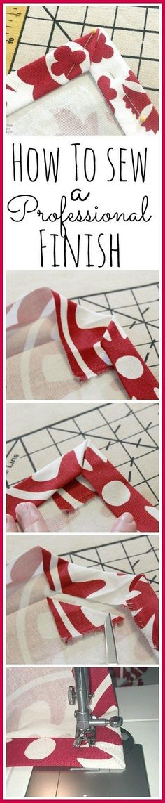 A great tutorial for doing corner hems!