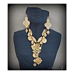 Earrings and necklace by Atelier Jen @atelierjen