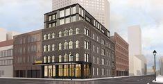 Revised Kinn Hotel Plan. Rendering by Vetter Architecture.