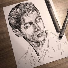 jiminscat/2016/11/26 03:00:25/I already screwed up so I'm not finishing~ my failed attempt of drawing Alex Turner because someone in my class said he was hard to draw and I took it as a challenge ✨#alexturner #arcticmonkeys #pen #ink #arcticmonkeysfanart #alexturnerfanart #fanart #sketch #illustration #tattoo #drawing #portrait #photography #rockandroll #art #artwork #artofinstagram #fabercastell #instaart