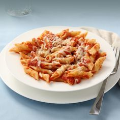 Our baked ziti starts with tender ziti pasta tossed with our house marinara, topped with mozzarella and oven baked.