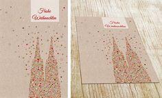 Weihnachtskarte mit Kölner Dom von Cate Suhr Design.