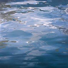 "Tatyana Klevenskiy   Ripple Effect   Oil on Canvas 48""h x 48""w   Addison Gallery"