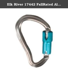 """Elk River 17442 FallRated Aluminum Carabiner with Auto Twist-Lock and Pin, 3600 lbs Gate, 3/4"""" Gate Opening. Elk River aluminum carabiner with auto twist-lock and pin. All carabiners are made of high strength materials. All models are self locking and closing for added safety. Carabiners are used to connect lanyards and lifelines to anchorage points. Always check that the gate is secure and locked before use. Fall rated. 1/2-inches x 4-inches x 2-inches. 3/4-inches gate opening. Elk River, Safety And Security, Lanyards, Gate, Connect, Strength, Models, Personalized Items, Check"""