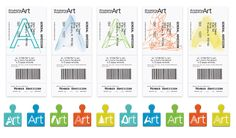 museum graphic design tags tickets corporate institutional