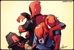 deadpool, Marvel, and the amazing spider-man image Spideypool, Superfamily, Marvel Heroes, Marvel Avengers, Deadpool Y Spiderman, Batman, Slash, Amazing Spider, Marvel Universe