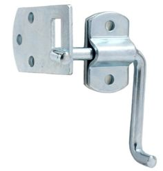 Pkg of (4) Corner Gate Latch Sets for Stake Body Gates - Clear Zinc