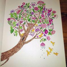 #trochę #wiosenne #kolorowanie #kolorowanka #wyspy #anitagraboś #coloring #adultcoloring #coloringbook #tree #spring