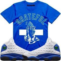 07e28ba3364602 Jordan 13 Hyper Royal Sneaker Tee Shirt to match made by Dapper Goons  Clothing. Shirt