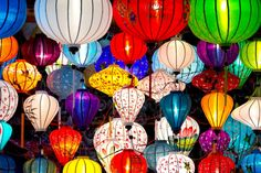Traditional Lanterns in Hoi An, Vietnam jigsaw puzzle in Handmade puzzles on…
