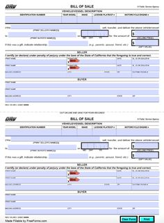 Bill Of Sale Template For Car California Bill Of Sale Template, Sales Template, Bill Of Sale Car, Cars For Sale, Doc Form, Invoice Template Word, Training Courses, Water Crafts, California
