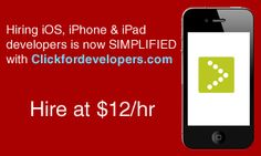 Hire #iPhone, #iPad and #iPod_Developer at reasonable price. Know more at http://thenextweb.com/market/offer/2323-getting-a-dedicated-resource-will-no-more-worry-you Shared in regards of #Click_For_Developers
